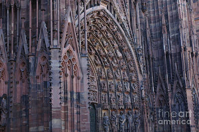 Catherdral In Strasbourg Germany Print by Bob Christopher