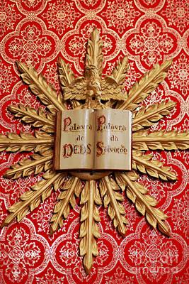 Catholic Church Decorations Print by Gaspar Avila