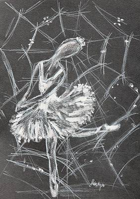 Caught In A Web  Print by Sladjana Lazarevic