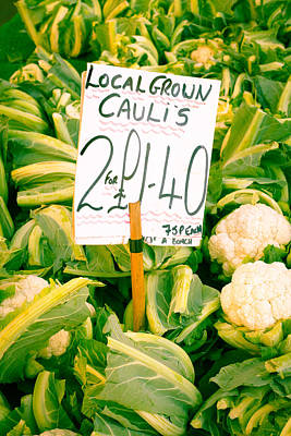 Sterling Photograph - Cauliflower by Tom Gowanlock