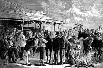 Cavalry Horses, 1876 Print by Granger