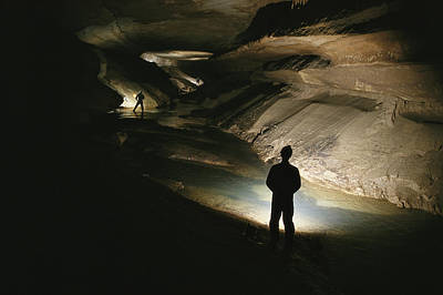 Indiana Scenes Photograph - Cavers Stand In The New Discover by Stephen Alvarez