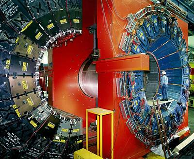 Cdf Particle Detector, Fermilab Print by David Parker