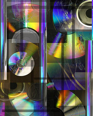 CDs Print by Andrew Sliwinski