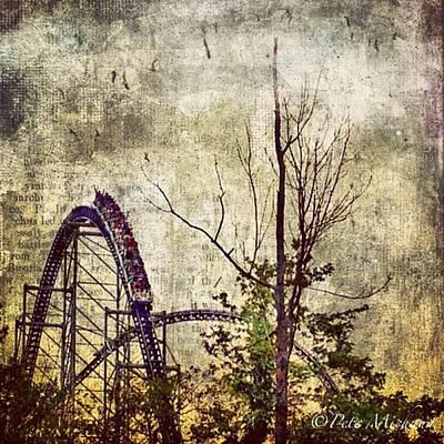 #cedarpoint #rollercoaster #ohio Print by Pete Michaud