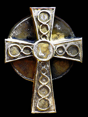 Faith Photograph - Celtic Cross Edge Glow by LeeAnn McLaneGoetz McLaneGoetzStudioLLCcom
