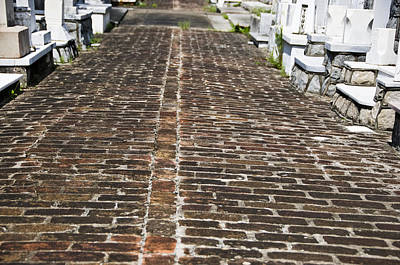 Cemetary Path Print by Ray Laskowitz
