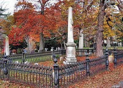Cemetery Scenery Print by Janice Drew