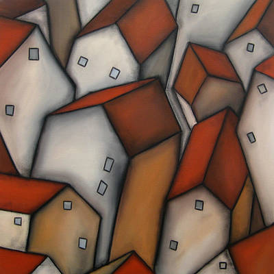 Abstract Painting - Census by Tom Fedro - Fidostudio