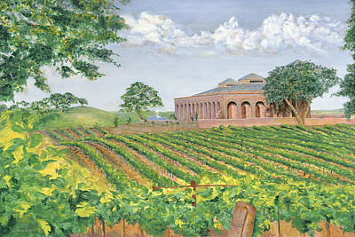 Central Coast Winery Painting - Central Coast Winery by Johnny Butler