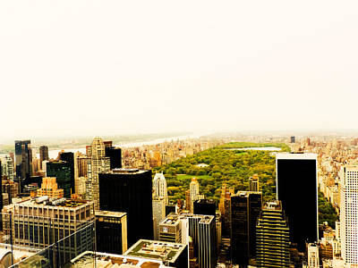 Haze Photograph - Central Park And The New York City Skyline From Above by Vivienne Gucwa