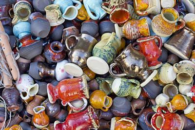 Ceramic  Jugs And Cups  Print by Aleksandr Volkov