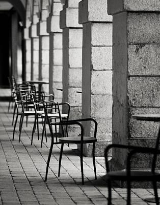 Chairs And Pillars  Print by Marcio Faustino
