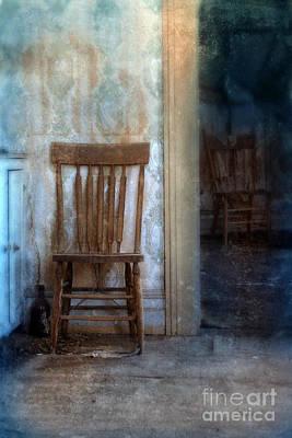 Chairs In Rundown House Print by Jill Battaglia