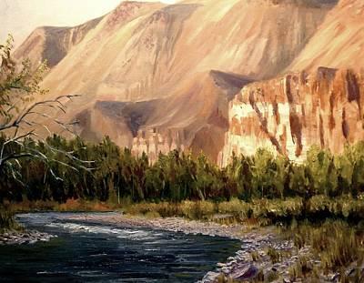 Salmon River Idaho Painting - Challis Idaho  by Tom Siebert