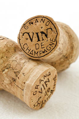 Food Photograph - Champagne Corks by Frank Tschakert