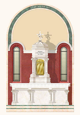 Chalice Mixed Media - Chapel Elevation by Jed Gibbons