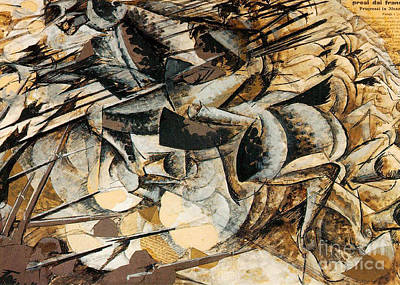 Boccioni Painting - Charge Of The Lancers by Pg Reproductions