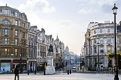 Lamppost Photograph - Charing Cross In London by Elena Elisseeva