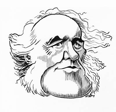 Charles Lyell Photograph - Charles Lyell, Caricature by Gary Brown