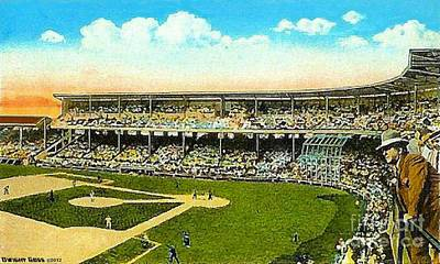 Charlie Comiskey Overlooking His Park In Chicago 1920 Print by Dwight Goss