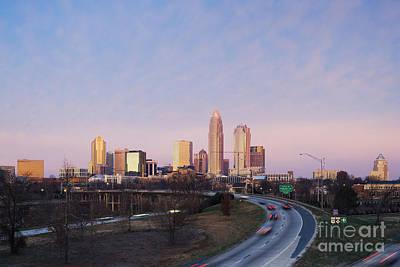Charlotte Skyline At Sunrise Print by Jeremy Woodhouse