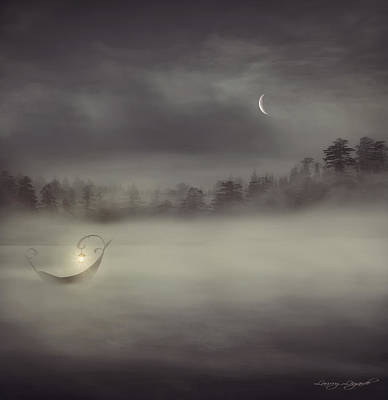 Son Digital Art - Charon's Boat by Lourry Legarde