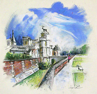Chateau Drawing - Chateau  Anet En France by Miki De Goodaboom