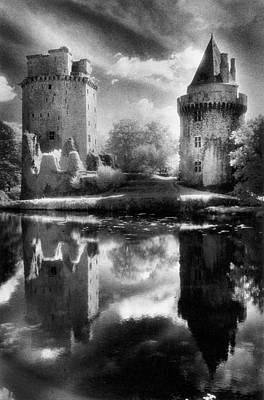 Silver Moonlight Photograph - Chateau De Largoet by Simon Marsden