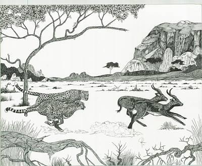 Cheetah Twins  Print by Doug Hiser