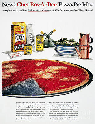 Grate Photograph - Chef Boyardee Ad, 1956 by Granger