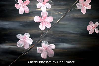 Cherry Blossom By Mark Moore Print by Mark Moore