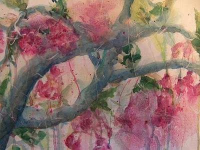 Cherry Blossoms Print by Sandy Collier