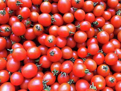 Cherry Tomatoes Print by Junku