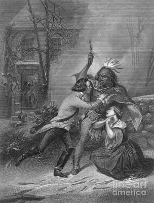 Cherry Valley Massacre, 1778 Print by Photo Researchers