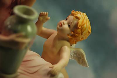 Child Photograph - Cherub Visit by LeeAnn McLaneGoetz McLaneGoetzStudioLLCcom