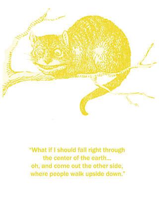 Cheshire Cat Wisdom Print by Georgia Fowler