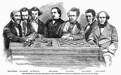 Chess Players, 1855 Print by Granger