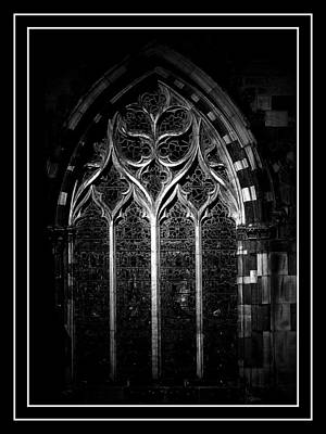 Chester Photograph - Chester Cathedral Architecural Window by Stephen Douglas