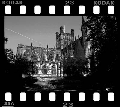 Chester Photograph - Chester Catherdal Rebate Bw by Stephen Douglas