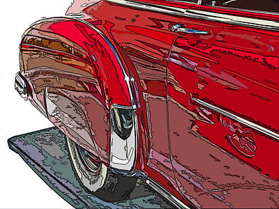 Chevrolet Fleetline Deluxe Rear Wheel Study Print by Samuel Sheats