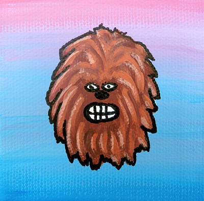 Chewbacca Painting - Chewy by Jera Sky