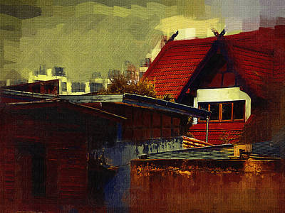 Chiang Mai House Print by Fran Woods