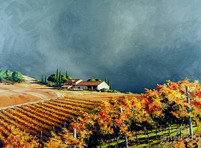 Tuscany Painting - Chianti Storm by Michael Swanson