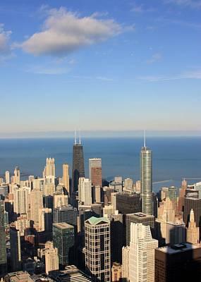 Chicago Aerial View Print by Luiz Felipe Castro
