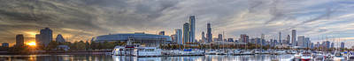 Chicago Photograph - Chicago From Burnham by Twenty Two North Photography