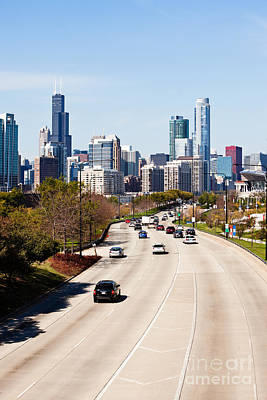Chicago Lake Shore Drive Cars Print by Paul Velgos