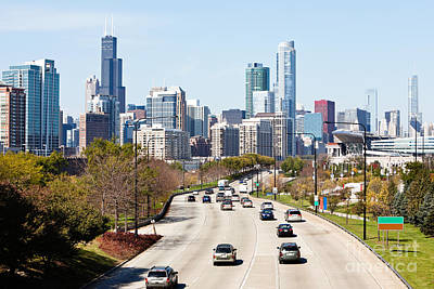 Chicago Lake Shore Drive Print by Paul Velgos