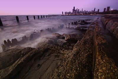 Chicago Lakefront And Skyline Print by Sven Brogren