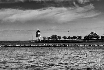 Chicago Lighthouse Print by Leslie Leda